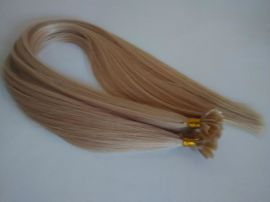 厂家批发    真人发指甲发 U型接发 纳米接发 0.5克/束 欧美假发