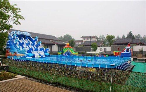 藍客遊樂專業生產設計大型支架泳池