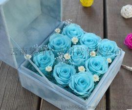 保鲜花礼物玫瑰 创意情人节圣诞永生花礼盒送女友送爱人 天长地久