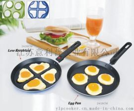egg pan 煎蛋平底锅 爱心不粘煎盘 铝制不粘锅 出口