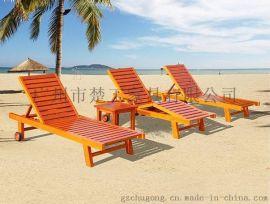 新款园林沙滩椅 庭院休闲躺椅 定制沙滩床