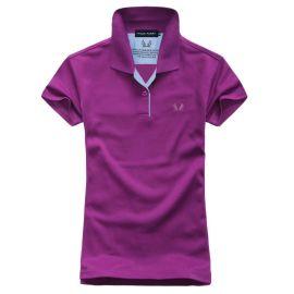 定做夏季翻领纯色短袖T恤diy来图定制工作服校班服团体队服加logo