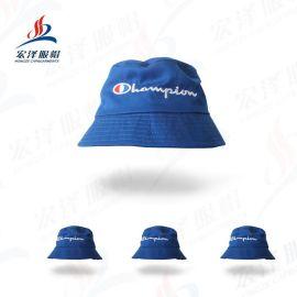 廠家直銷戶外大沿漁夫帽翻沿卷邊布帽可折疊太陽帽韓版遮陽帽子女