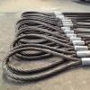 专业加工压制钢丝绳 镀锌钢丝绳吊索具 起重钢丝绳双头扣复合钢丝绳
