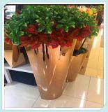 不鏽鋼落地花盆定製供應金屬鈦  盆花箱會所  花盆擺件加工