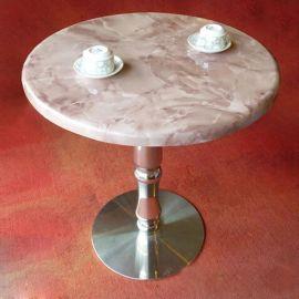 西餐厅大理石餐桌|  咖啡厅酒店天然大理石桌子