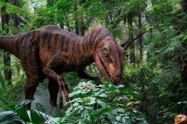 公园布景高密度海绵仿真机械恐龙
