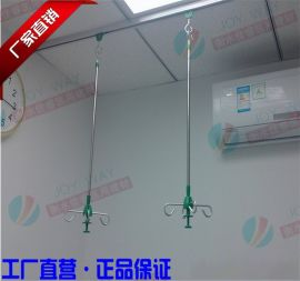 不锈钢输液吊杆医院病房专用伸缩天轨输液架
