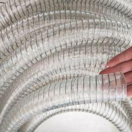 PU透明钢丝软管聚氨酯钢丝增强管