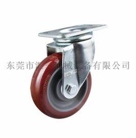 工业脚轮 中型4寸高科技聚氨酯PU万向脚轮