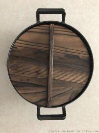 無塗層炒菜鍋 雙耳炒鍋生鐵鍋 手工老鐵鍋