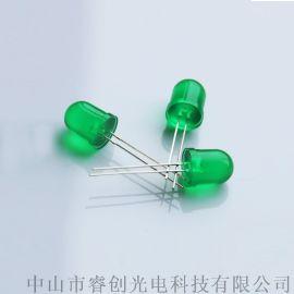 直插绿发绿LED发光二极管,指示灯LED灯珠