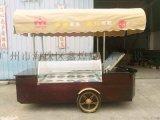 -25度雪糕移动花车 冰淇淋流动车冷藏车 冰棍展示柜带储存冰箱