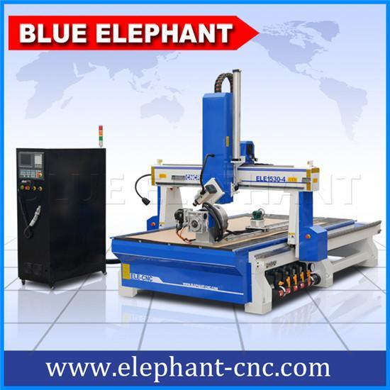 蓝象1530大型木模异形曲面立体四轴木工雕刻机价格,主轴摆动,增加旋转轴,台湾新代控制,雕刻精准,运行平稳