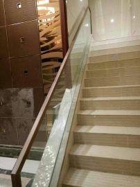 钢化玻璃栏杆 楼梯扶手