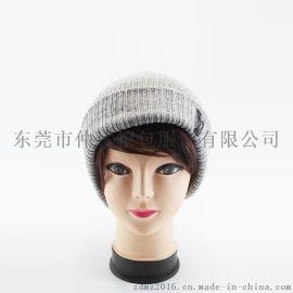 来图来样定制针织帽 外贸品质男女针织毛线帽 折边套头针织帽