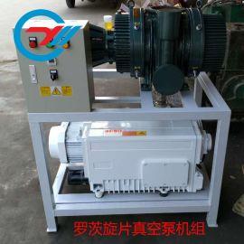 罗茨旋片真空泵机组 电动真空抽气油泵真空泵机组真空系统
