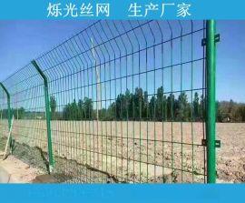 河边护栏网 经济实惠河道防护双边丝围栏网