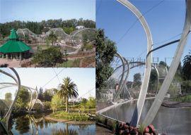 供应钢丝绳网 猴围栏网 不锈钢动物园围网