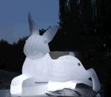 訂做玉兔望月充氣月球廠家供應充氣月球