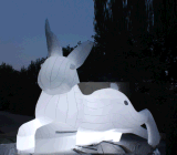 订做玉兔望月充气月球厂家供应充气月球