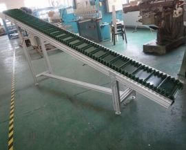 固定式挡边输送机防油耐腐 橡胶带运输机吉林