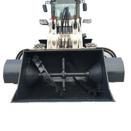 装载机混凝土  推铲搅拌机