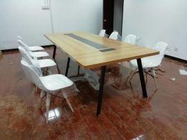 大型会议桌长桌简约现代长条桌洽谈桌椅组合会议室桌椅
