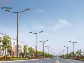 9米太陽能路燈分體式路燈,LED照明