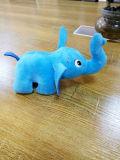 毛绒玩具定制卡通动物定做厂家 蓝色小象公仔毛绒玩具