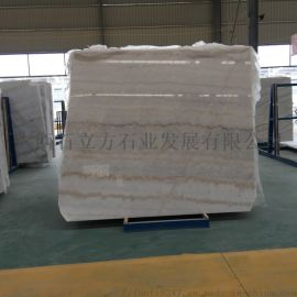 白底红纹大理石板、广西白天然大理石板材直销