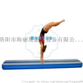 充气体操垫 洛阳市霞光牌001充气体操垫 多种功能休闲游乐进口PVC加丝网布充气体操垫