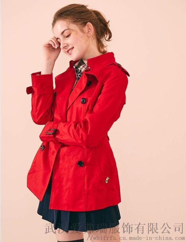 小众品牌女装拿货迪卡轩20年冬装新款女式风衣外套