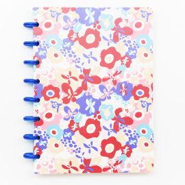 A5手账本彩色封面碟片式入门手账本蘑菇孔笔记本
