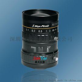 KOKAR 8MM 2/3 500万高清工业镜头 5MP0816C 定焦镜头