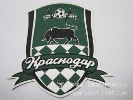 足球服商标转印 矽利康商标  哑色印刷商标