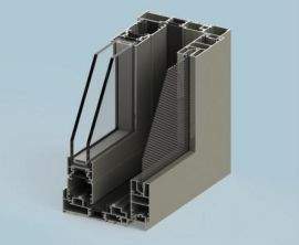 興發鋁材廠家直銷斷橋鋁型材隔熱節能中空百頁推拉窗