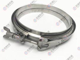 不锈钢双备卡箍/v型槽桶箍/全钢冲压/精铸卡箍
