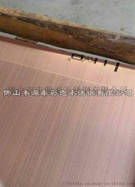 供应镀铜拉丝板,拉丝红古铜,红古铜不锈钢板