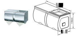 双排小卷纸盒 不锈钢双卷纸箱 厂家直销