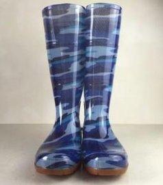 农源NY0022男士迷彩雨鞋长筒雨鞋雨靴PVC雨鞋出口高筒雨靴