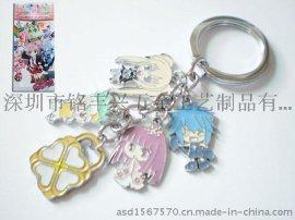 厂家定制日本卡通人物钥匙扣,外贸钥匙扣制作