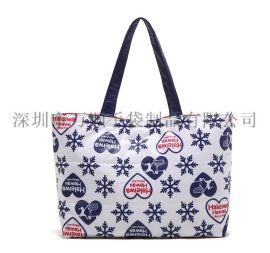 万顺**女士手提购物袋户外休闲便携手挽袋可折叠时尚潮女手提包