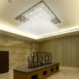 大型圆形水晶灯LED吸顶灯现代蛋糕客厅餐厅酒店灯工程灯厂家批发