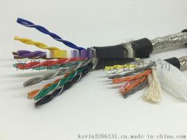 6芯低烟无卤电缆WDZ-RVVP6*1.0 阻燃双绞屏蔽电缆