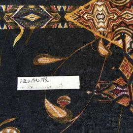 人棉羊毛活性印花布 羊毛混纺针织定位印花