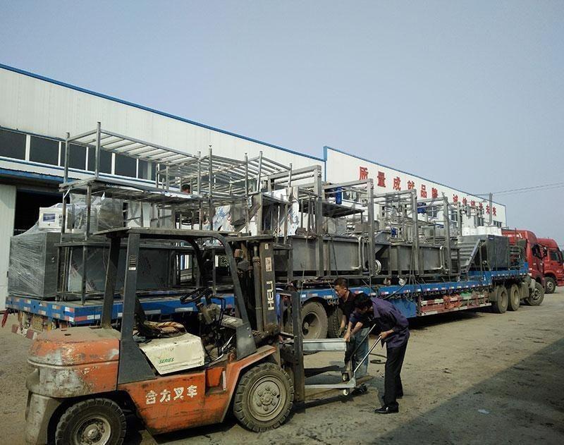 猪皮电加热油水混合油炸生产线