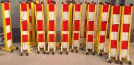 黑黄相间玻璃钢绝缘围栏厂家 定制道路PVC塑钢围栏尺寸