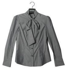 蝴蝶结长袖衬衫