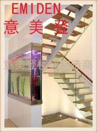 直梁楼梯安装,阁楼楼梯,钢木楼梯